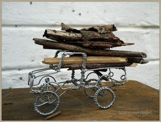 The Landrover Series Bringing Home The by chocolatnegrodesign, $69.00 Wire Art Sculpture, Wire Sculptures, Landrover Series, Wire Crafts, Jewelry Art, Jewellery, Sierra Leone, Yard Art, South Africa
