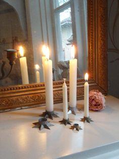 Stjärnljusstakar finns inne i min butik fagel-blabutik.blogspot.se
