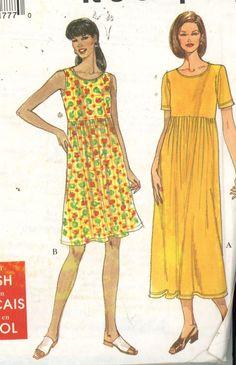 Simplicity 8190 Womens High Waist Pullover Dress Size XS-XL Bust 30.5-46 UNCUT - Women