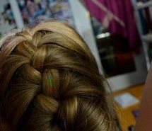 Inspiring picture blonde, braid, colours, french braid, hair. Resolution: 403x604 px. Find the picture to your taste!