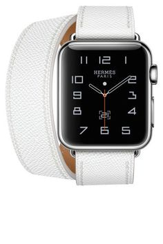 Shop the 19 of the most stylish women's watches: Apple x Hermes white leather watch
