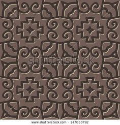 medieval pattern. Grey vector seamless medieval pattern with ethnicity motif - stock vector