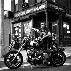 Indian Larry with The Grease Monkey             Rest in Peace, Indian Larry.....the greatest bike builder ever!