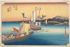 Arai, Tosen  Utagawa Hiroshige  (Japanese, 1797–1858)  Period: Edo period (1615–1868) Date: ca. 1834 Culture: Japan Medium: Polychrome woodblock print; ink and color on paper