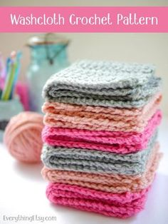 Crochet+Washcloth+Pattern+{free}