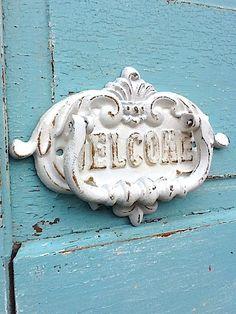 """rustic """"welcome"""" door knocker"""