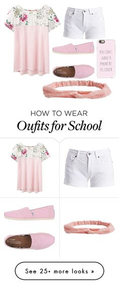 Touring new school by gretchenlover on Polyvore featuring Joules, Barbour International, TOMS, Casetify and Aéropostale