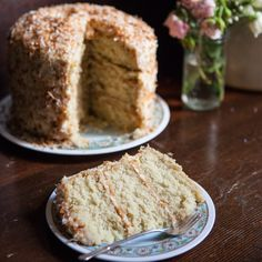 This towering triple-layer Southern coconut cake is the same one they make at The Wandering Goose cafe in Seattle. It's moist with a fragrant, tender crumb.