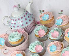 Cupcakes algodón de azúcar