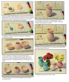 3 pot - Vase with a neck Quilling Dolls, Quilling Paper Craft, Quilling 3d, Quilling Flowers, Quilling Patterns, Quilling Designs, Paper Flowers, Paper Crafts, Quilling Instructions
