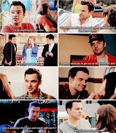 """And she made him emotional when before he was averse to ~feelings~. 23 Reasons Jess And Nick From """"New Girl"""" Were Actually Perfect New Girl Funny, New Girl Memes, New Girl Quotes, Best Tv Shows, Favorite Tv Shows, New Girl Nick And Jess, Jake Johnson, Jessica Day, Nick Miller"""
