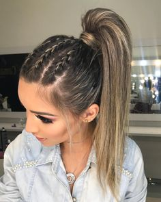 May 2020 - Neueste geflochtene lange Frisuren für Frauen – # für - New Site Box Braids Hairstyles, Pretty Hairstyles, Hairstyle Ideas, Braided Ponytail Hairstyles, Teen Hairstyles, Hairstyle For Women, Active Hairstyles, Athletic Hairstyles, Flower Hairstyles