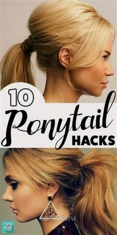 Awesome If you've got hair long enough for a ponytail, you probably know there's a lot you can do with it. But don't limit yourself, try some of these ponytail hairstyles that look fancy, while still being quick and easy like the simple standby style. Polished enough for wo ..
