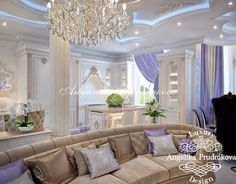 Дизайн кухни-столовой-гостиной в частном доме. Фото Dining Room Design, Modern House Design, Valance Curtains, Art Deco, Living Room, Interior, Home Decor, Rooms, New Houses