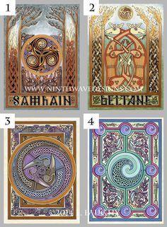 celtic wave design | Original Celtic Art Greeting Card Make Your Own Assortment by ...