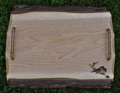 Wood Serving Tray.  Live Edge. Serving by SpringbrookEngraving