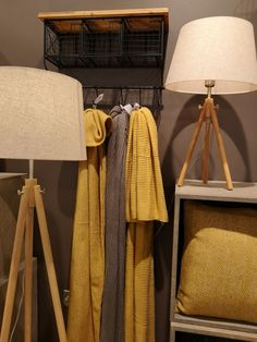 Soft textures work wonderfully together to create a comfortable and cosy home environment... Check out the Classic Tripod Table and Floor Lamp Shade, €65 and €145, instore or online now!