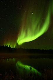 Aurora Borealis above Yellowknife, Northwest Terrritories