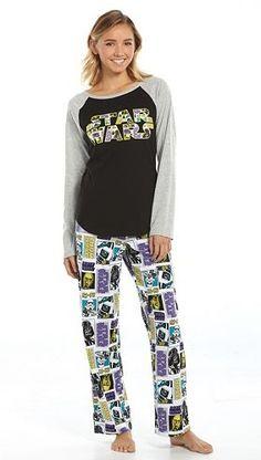 6150213288 Star Wars Pajamas  Knit Top   Microfleece Pants Pajama Set - Juniors