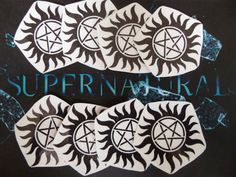 Supernatural Temporary Tattoos by on Etsy Supernatural Merchandise, Supernatural Fan Art, Things I Need To Buy, Steampunk Cosplay, Winchester Brothers, Geek Culture, Larp, The Hobbit, Geek Stuff