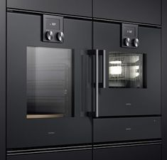 Gaggenau 200 Series built-in appliances Stove Heater, Pellet Stove, Oven Design, Küchen Design, Modern Refrigerators, Luxury Kitchens, Bosch, Ovens, Locker Storage