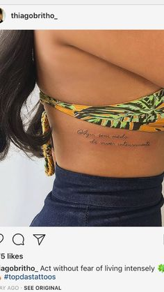 English short sentence tattoo can be said to be a popular tattoo style in the past two years. Phrase Tattoos, Tattoo Fonts, Couple Tattoos, Tattoo You, Tatoos, Sweet Tattoos, Mini Tattoos, Small Tattoos, Rose Rib Tattoos