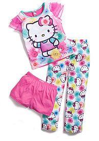 Hello Kitty by Sanrio 3-Piece Sorbet Pajama Set Girls 4-16