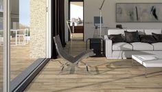 El atractivo estilo decorativo de la madera en los pisos de cerámica queda marcado en los pavimentos imitación parquet para el suelo del salón, cerámicas que aportan a tu casa ambientes con calor de hogar.
