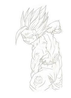 Teen Gohan SSJ2 Kamehameha Drawing
