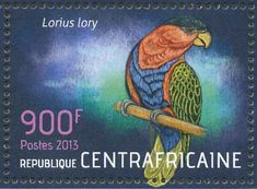 Black-capped Lory stamps - mainly images - gallery format