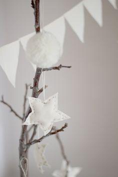 White stars ornaments.