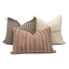 Hmong pillow cover, fringe on top brown stripe Asian textile cotton pillow, stripe pillow Brown Pillows, Ikat Pillows, Couch Pillows, Cushions, Colorful Pillows, Pillow Cover Design, Pillow Covers, Handmade Pillows, Decorative Pillows