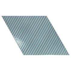 Creative Geometrics Wall Décor Bambu Ash Blue 15.2cm x 26.3cm - Baked Tiles