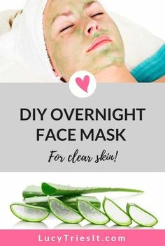 I love adding an overnight beauty treatment to my skincare routine. It's really great when you can wear a face mask at night to help beautify your skin while you sleep. This particular DIY mask is great if you have acne, or you just want to wake up with a Diy Overnight Face Mask, Beauty Hacks For Teens, Natural Hair Mask, How To Grow Eyebrows, Skin Tag Removal, Get Rid Of Blackheads, Beauty Tips For Face, Face Tips, Beauty Tricks