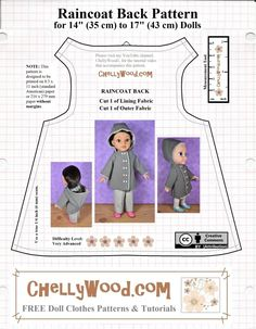 Sewing Doll Clothes, American Doll Clothes, Baby Doll Clothes, Sewing Dolls, Barbie Clothes, Ag Dolls, Barbie Dress, Girl Dolls, Baby Clothes Patterns