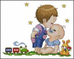 Метрика детская на двух деток - Детские - Схемы вышивки - Иголка