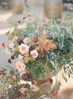 Sunstone Villa Wedding by Jen Huang Photo Floral Urn
