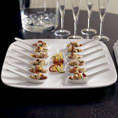 Porcelain Appetizer Spoon in Serving Utensils | Crate and Barrel