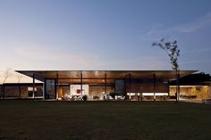 This house was implanted in a large land, surrounded by golf courses and was designed for a family from São Paulo to spend their weekends. 	 A widespread s...