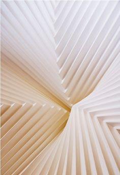 Paper landscape.RICHARD SWEENEY, PLEATED PAPER: infinite folds.