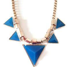Collier SYLLA bleu #collier #bijou #accessoire