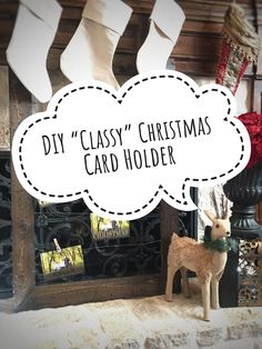 DIY: Step by step instructions to create a beautiful and inexpensive frame to display your Christmas cards. Can also be used to display your child's art or pictures throughout the year!