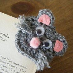 Mousey Crochet Corner Bookmark - No Pattern