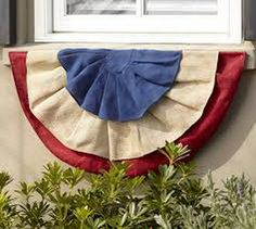 Fourth of July Burlap Window Box Swag - Traditional - Holiday Outdoor Decorations - sacramento - by Pottery Barn Fourth Of July Decor, 4th Of July, Patriotic Decorations, Holiday Decorations, Outdoor Decorations, Holiday Ideas, Holiday Crafts, Holiday Fun, Patriotic Crafts