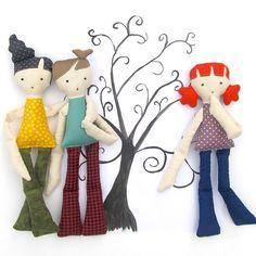 Kiddos Cloth Doll Set PDF Sewing Pattern