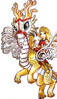 Apple White and Braeburn Dragon. Dragon Games. NEW Profile art