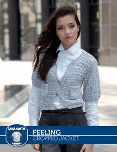 Feeling – Cropped Jacket | Knitting Fever Yarns & Euro Yarns