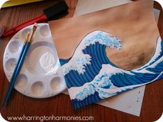 Learn to make waves like Hokusai, a Japanese woodblock artist, and recreate The Great Wave Off Shore of Kanagawa using three different media.