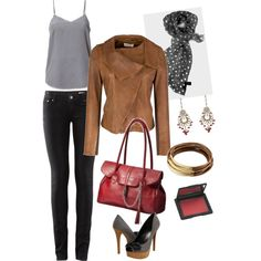 Neutrals with a Pop, created by albadeb on Polyvore
