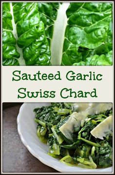 Having a hard time incorporating those healthy green leafy vegetables into your diet? The solution is easy: Sauteed Garlic Swiss Chard. Cooking Swiss Chard, Sauteed Swiss Chard, Swiss Chard Recipes, Swiss Chard Salad, Healthy Vegetable Recipes, Healthy Vegetables, Vegetarian Recipes, Veggies, Fresh Vegetables